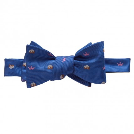 Woven King Cotton Bow - Blue